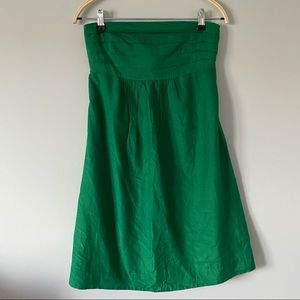 Banana republic green strapless dress